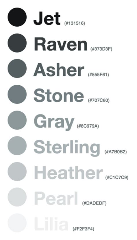 shades of gray names giving colors more colorful names viget