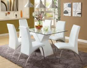 Dining Table With White Chairs White Dining Room Table Set Home Furniture Design