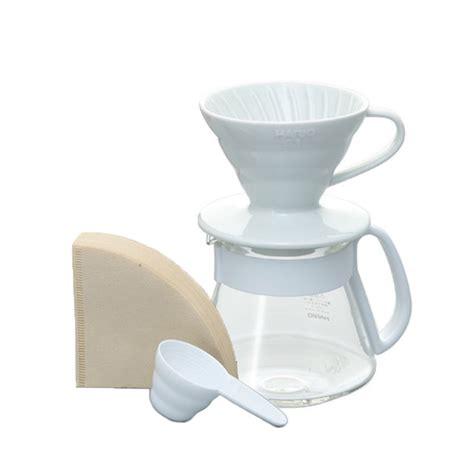 Tiamo Dripper V60 Ceramic 01 Gelas Pour Keramik Hg5543bb Blue hario v60 ceramic pour kit white 01 vds 3012w