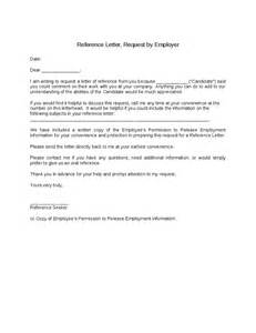 Sle Of Reference Letter From Your Employer Reference Letter Request By Employer Hashdoc