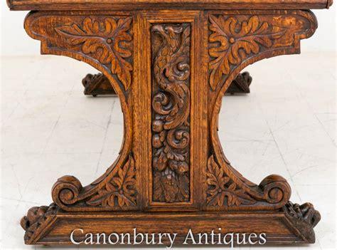 carved oak kneehole pedestal writing antique carved oak writing table writing desk antiques atlas carved bureau antique bog oak