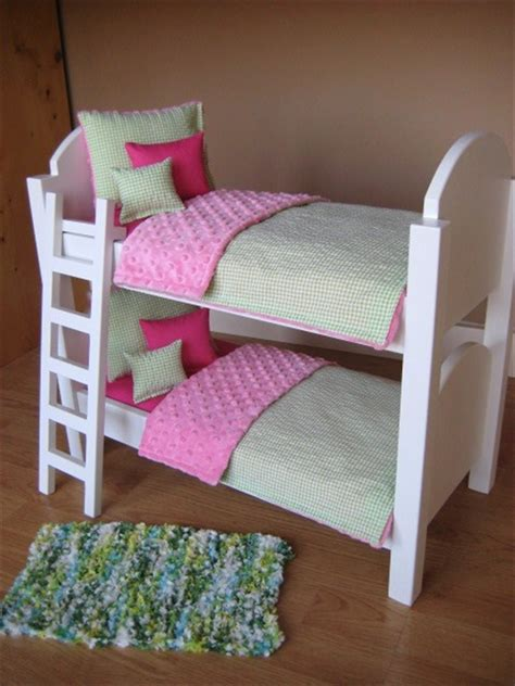 american doll bed american girl doll bunk bed with ladder and 10 piece bedding