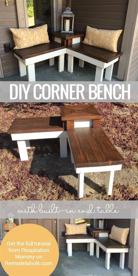 how to make a corner bench remodelaholic build a corner bench with built in table