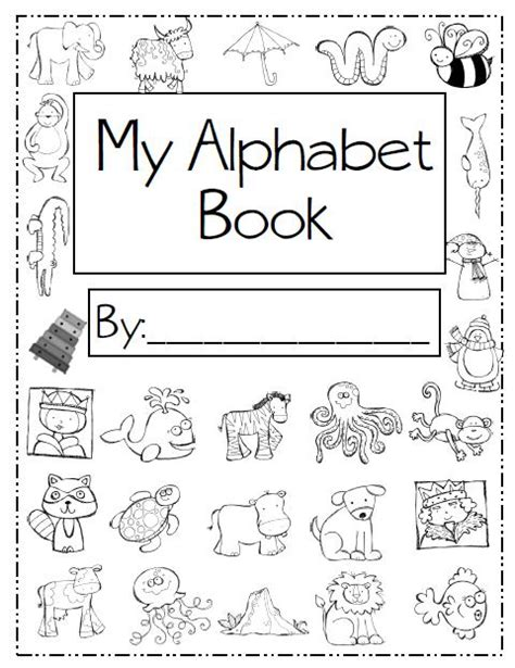 printable alphabet book template sliding into first june 2012