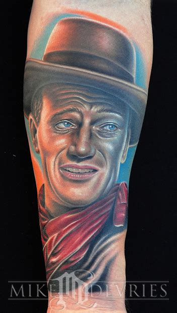 john wayne tattoos wayne by mike devries tattoos
