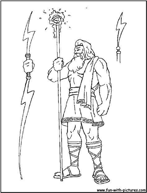 printable coloring pages of zeus free coloring pages of statue of zeus