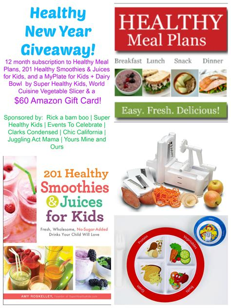 Healthy Giveaway - healthy new year giveaway archives events to celebrate