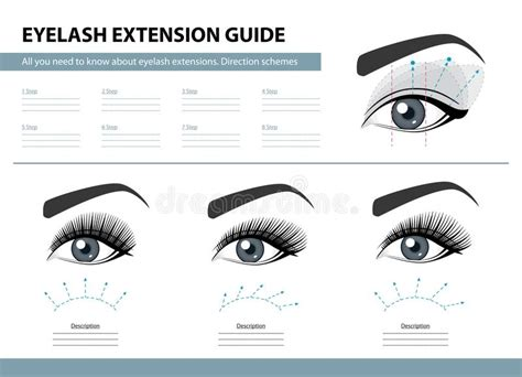 Guide Book Eyelash Extension Eyelash Extension Guide Direction Schemes Tips And
