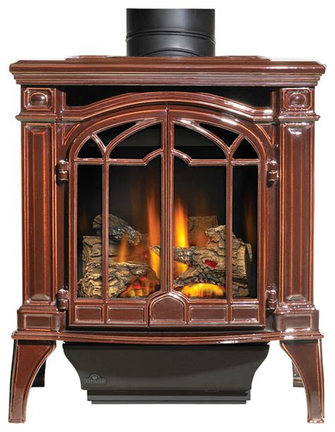 napoleon freestanding gas fireplace napoleon porcelain brown gas stoves bayfield gds25