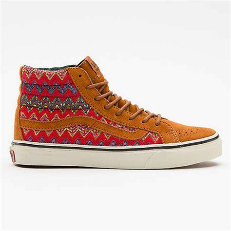 aztec pattern vans shoes aztec moccasin hybrid shoes vans sk8 hi sneaker