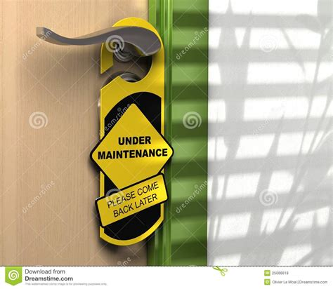 Possible Time Site Maintenance by Website Page Maintenance Royalty Free Stock Photos