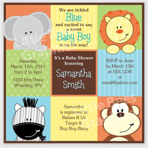 printable jungle invitations free free printable baby shower invitations stylish jungle