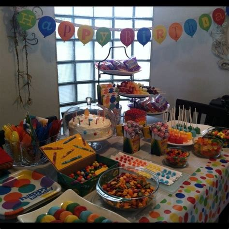 Snack Table Ideas by Crayola Snack Table Ideas For Snacks Birthdays And Birthday