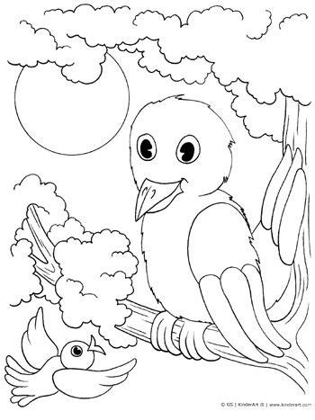 mama  baby bird coloring page  kids bird coloring