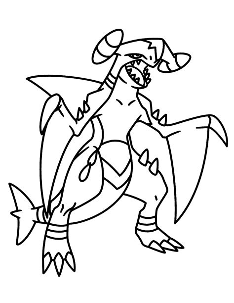 pokemon coloring pages garchomp gx pokemon to color images pokemon images