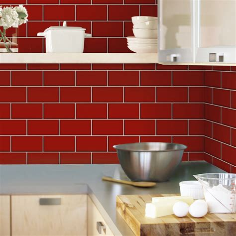 fine decor white ceramica subway tile wallpaper fine decor red ceramica subway tile wallpaper at