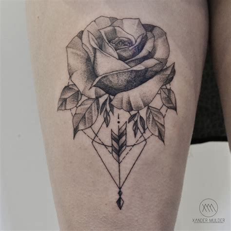 geometric rose tattoo geometric tattoos tatting and