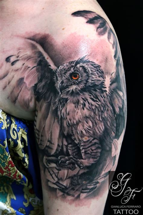 realistic owl tattoo best 25 realistic owl ideas on owl