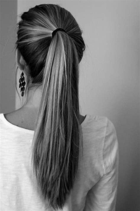 hair long enough for a ponytail long hair ponytail hair make up pinterest