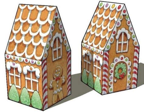 Gingerbread House Paper Craft - new paper craft simple gingerbread house