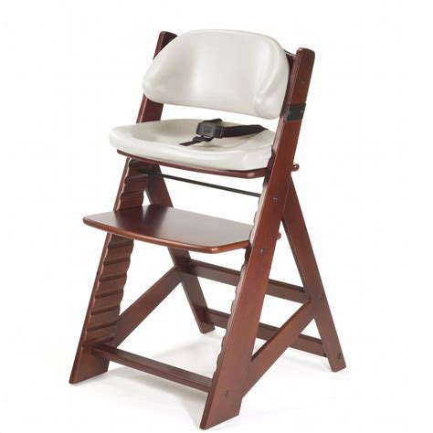 keekaroo high chair keekaroo height right chair comfort cushion mahogany