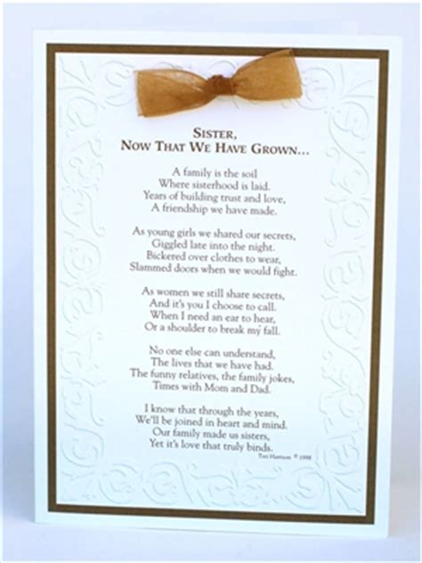Sister Now That We Have Grown Card