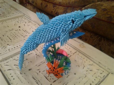 3d Origami Dolphin - 3d origami dolphin by camelliawolf on deviantart