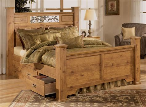 Country King Size Bedroom Sets | bittersweet king size poster bed by signature design