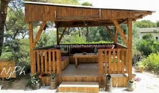 Wooden Pallet Gazebo by Diy Wood Pallet Garden Gazebo Deck With Furniture Wood