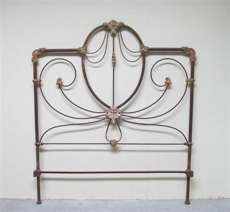 antique iron headboards antique cast iron bed ornate headboard with frame