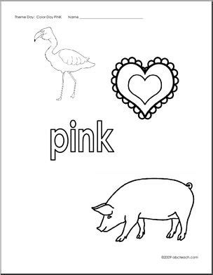 coloring pages pink abcteach