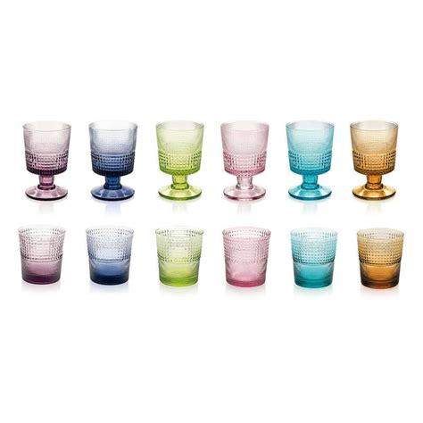 colored glasses sets colored glass and cup set maison numen
