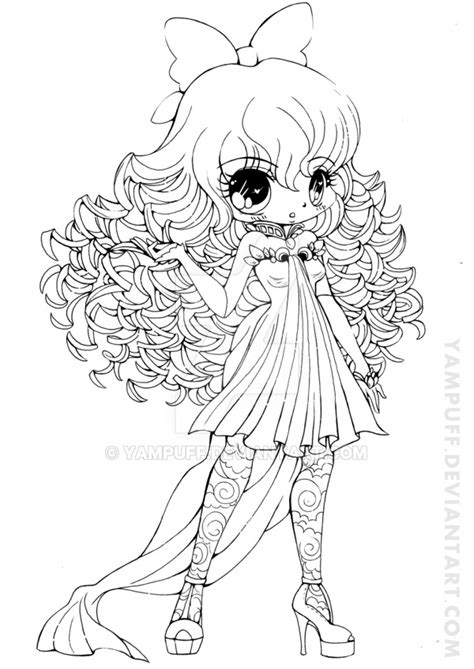 with curly hair coloring page free printable coloring pages curly haired girl lineart by yampuff on deviantart