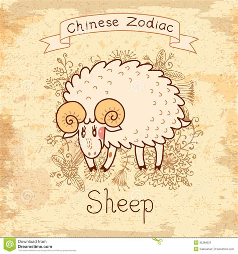 99 q to u animals collection stock images page everypixel vintage card with zodiac sheep stock vector