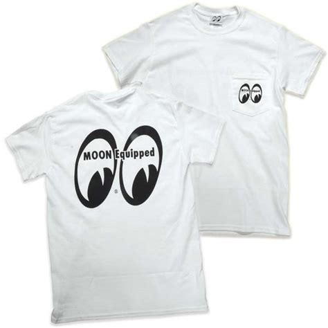 Moon Mooneyes Equipment Co White moon equipped t shirt with pocket white