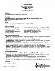 Diesel Mechanic Resume Objective by Field Service Technician Resume Resume Sle Automotive Industry Resume Automotive Technician