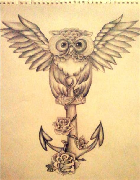 Tattoo Owl Anchor | owl tattoo designs and anchor tattoo design on pinterest