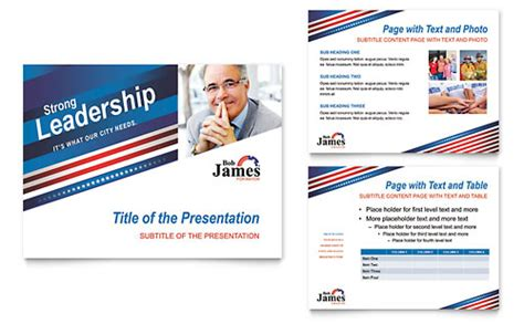 political caign tri fold brochure template design