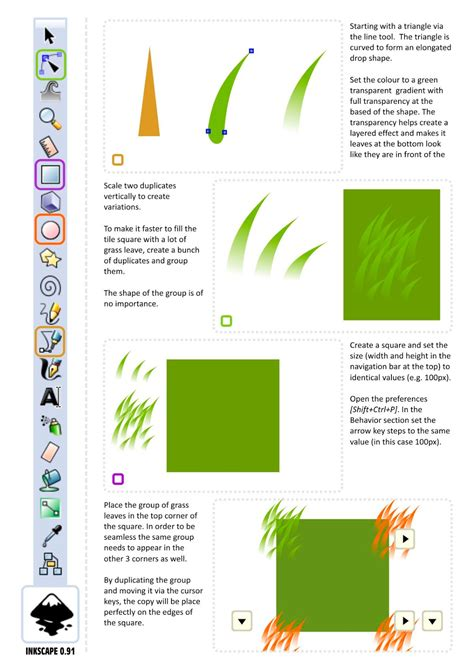 inkscape tutorial pixel art creating seamless 2d grass tiles in vectors using inkscape