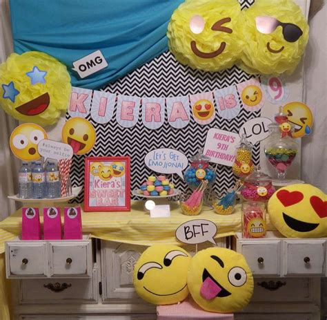 emoji party southern blue celebrations emoji party ideas