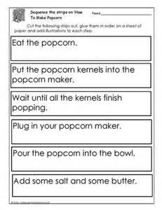 procedure how to make popcorn worksheets