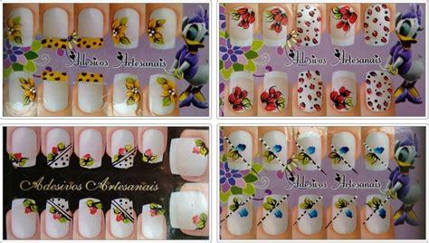 adesivos artesanais para unhas kit 20 cartelas adesivos artesanais unha esmalte beleza