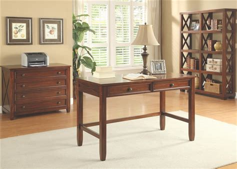 Talitha Set by Talitha 3 Home Office Set In Rich Bourbon Finish By