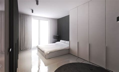 minimalist casement door wardrobe flat interior design