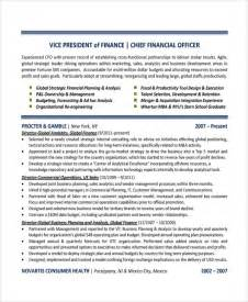 finance resume exles sle finance resume template 7 free documents