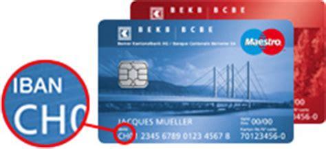 bankleitzahl welche bank iban bekb bcbe