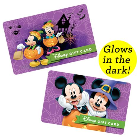 Disney Resort Gift Cards - the adorably spooktacular halloween disney gift cards now available
