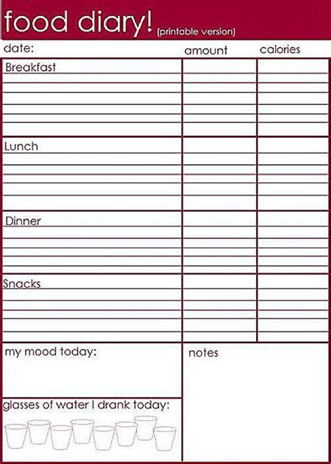 printable food journal builtlean search results for food and exercise log printable