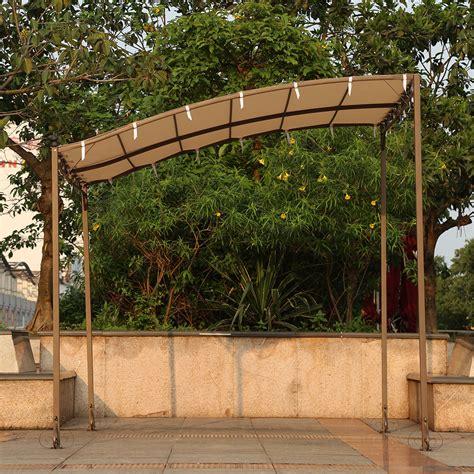 outdoor metal gazebo sand ikayaa 3 2 5 2 5m metal patio garden gazebo outdoor