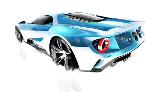 design engineer ford δες μερικά σκίτσα του ford gt προτού αποφασιστεί η τελική